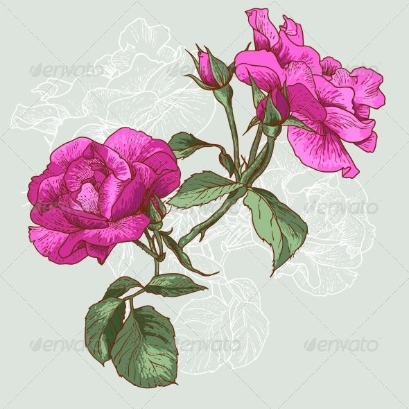 GraphicRiver Seamless Rose Background 4976089