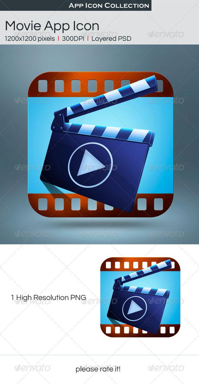 GraphicRiver Movie App Icon 4976091