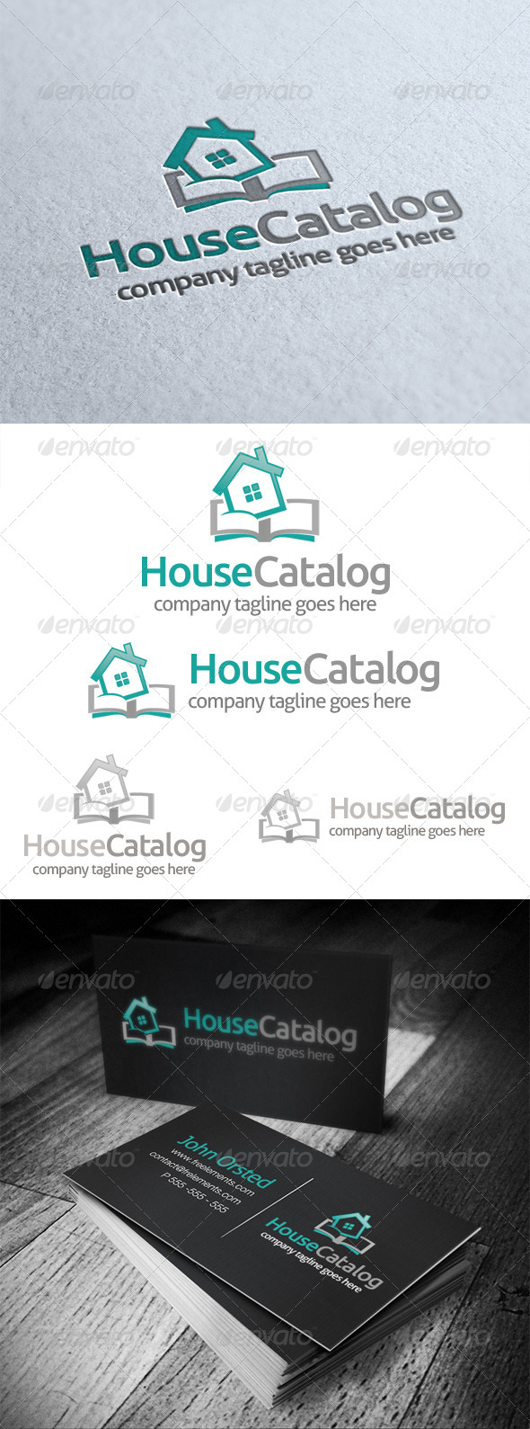 House Catalog Logo - Buildings Logo Templates