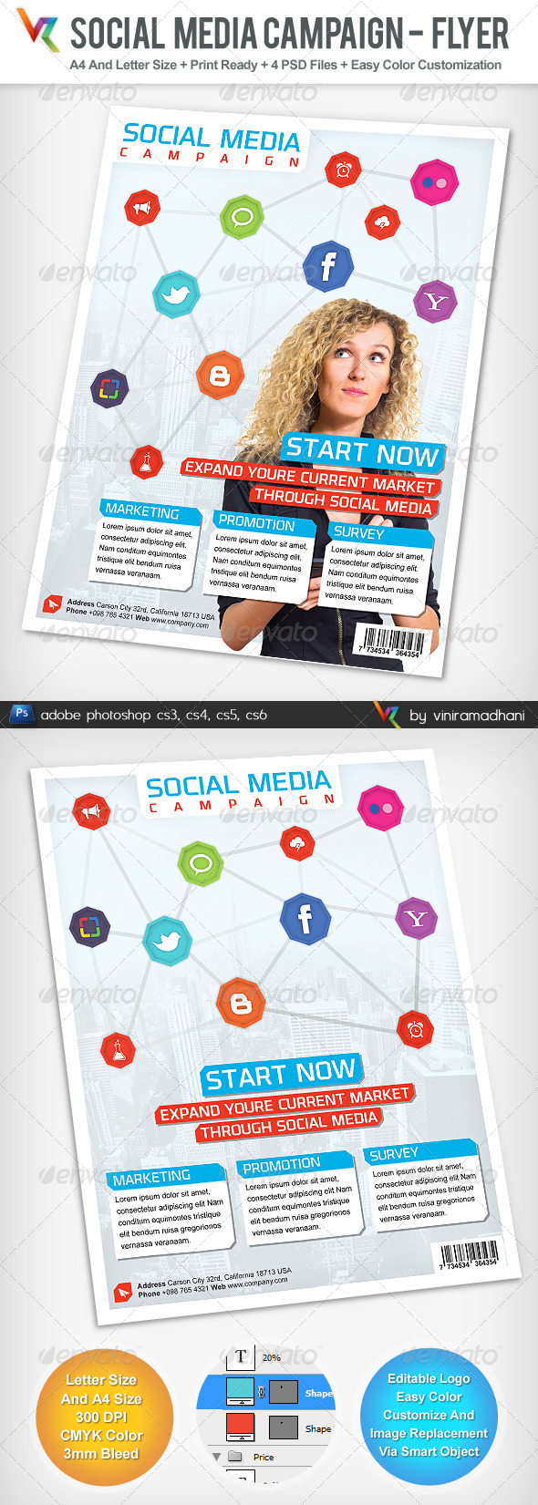 GraphicRiver Social Media Campaign Advertising Flyer 4976330