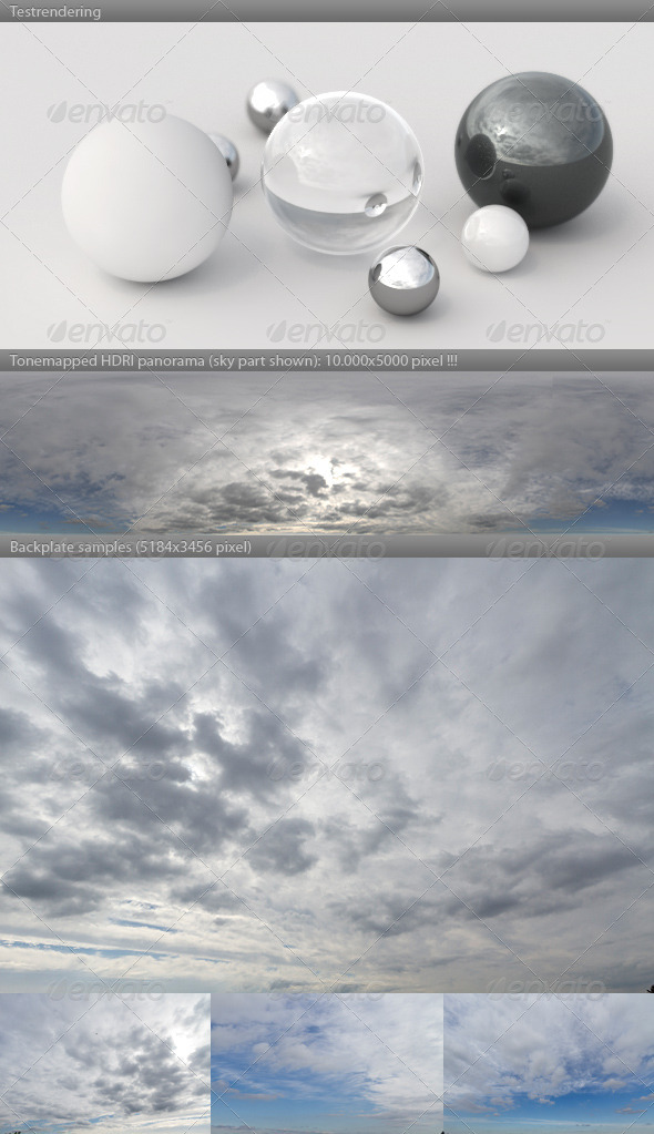 HDRI spherical sky panorama -1306- cloudy winter - 3DOcean Item for Sale