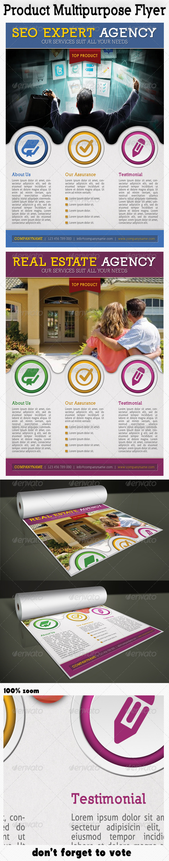 GraphicRiver Product Multipurpose Flyer 4976742