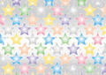 Colored  Stars on Silvery Background - PhotoDune Item for Sale