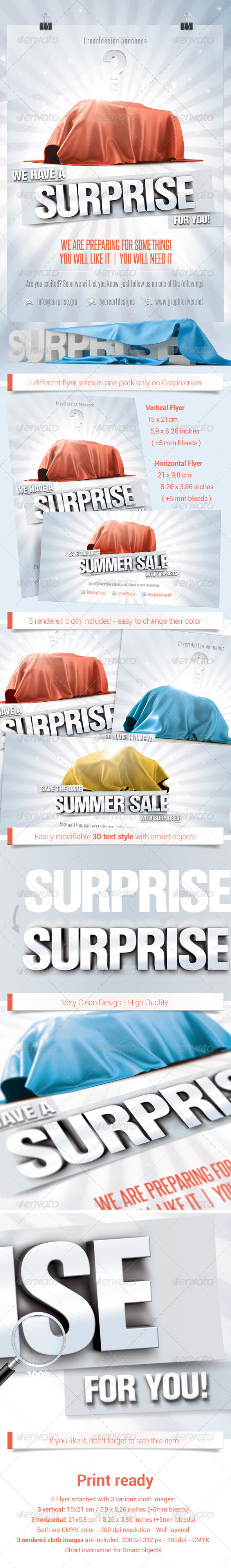 GraphicRiver Upcoming Sales Surprise Flyer 4977108