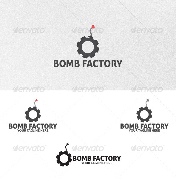 GraphicRiver Bomb Factory Logo Template 4977114