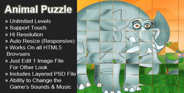 CodeCanyon Animal Puzzle Rotating Tile Puzzle 4977243