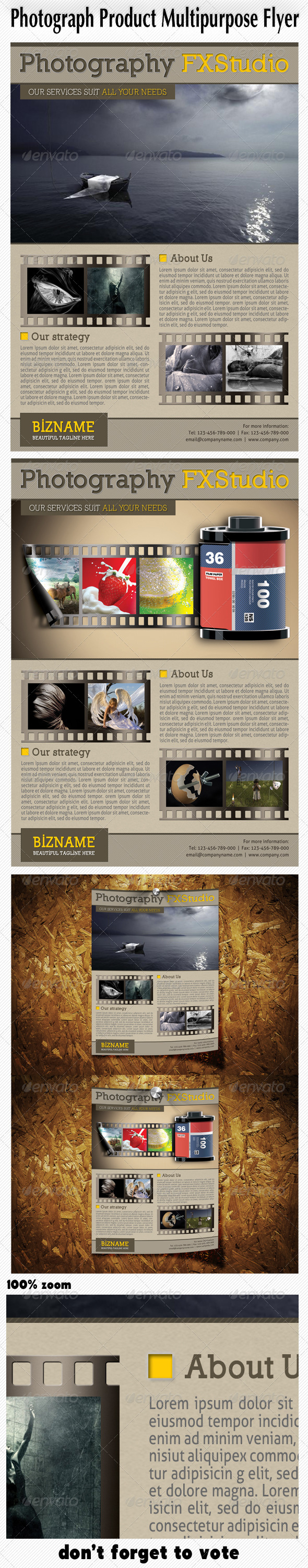 GraphicRiver Photograph Product Multipurpose Flyer 4977568