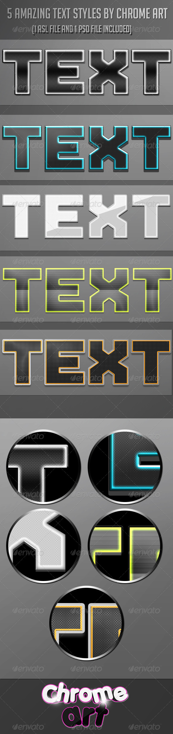 GraphicRiver 5 Amazing Text Styles 4977641