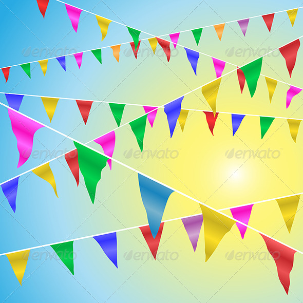 GraphicRiver Bunting Flags 4977673