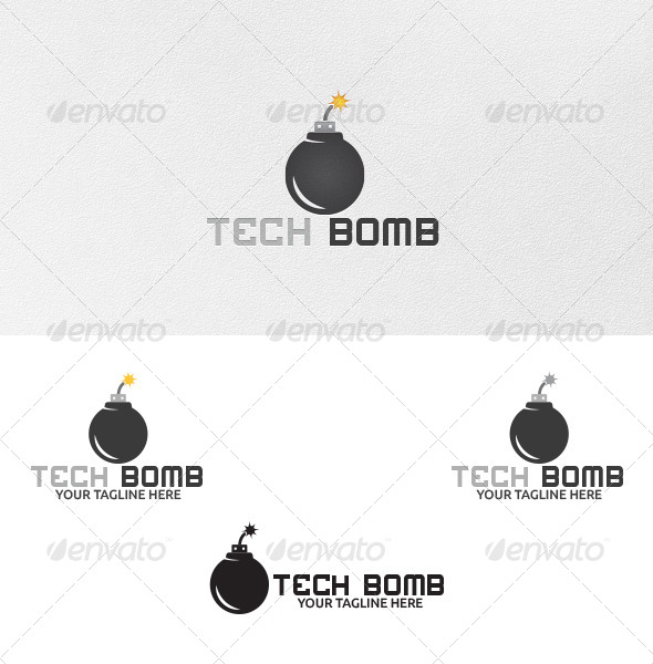 GraphicRiver Tech Bomb Logo Template 4977676