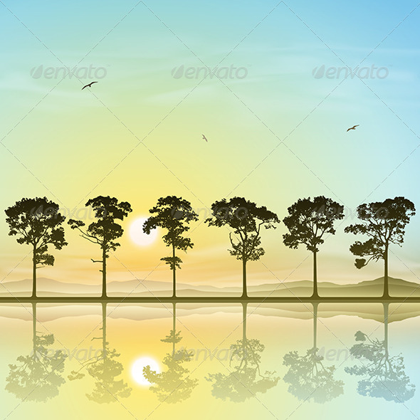 GraphicRiver A Line of Trees 4977736