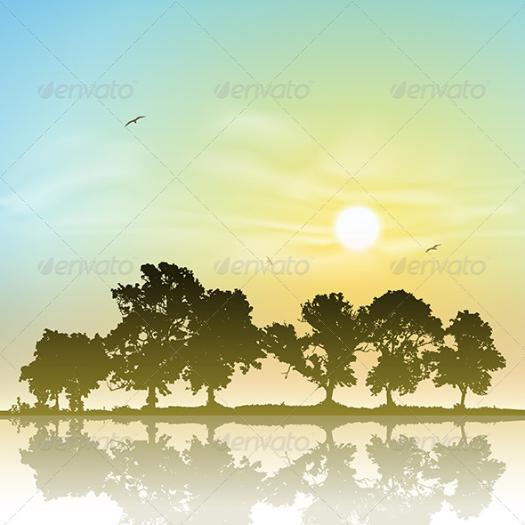 GraphicRiver Line of Trees 4977745