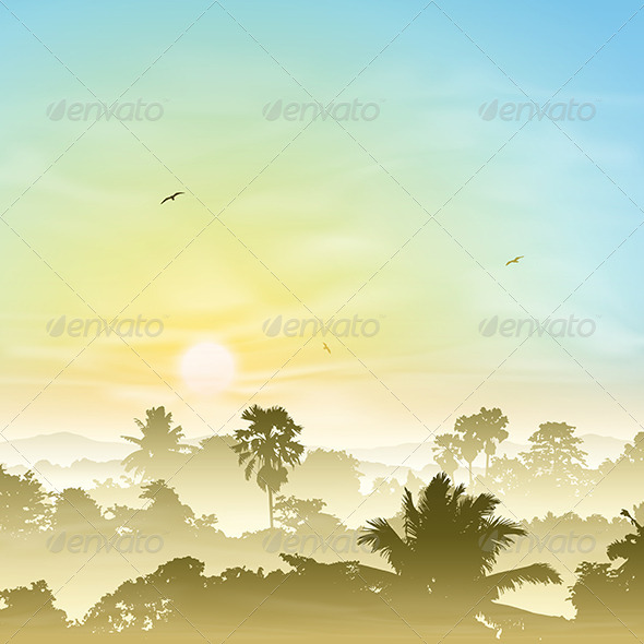 GraphicRiver Misty Landscape 4977748