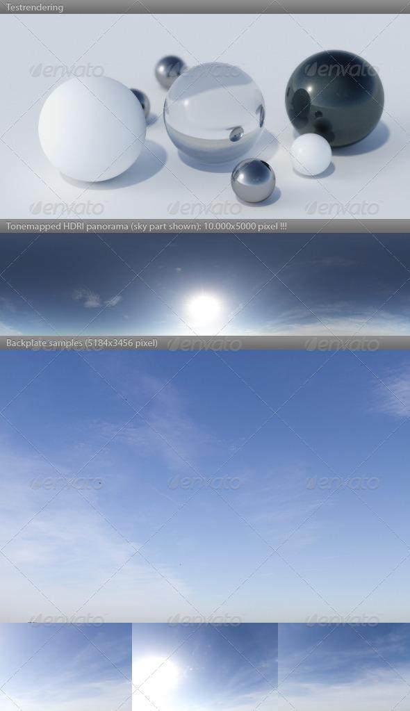 HDRI spherical sky panorama 1218- summer sun sky