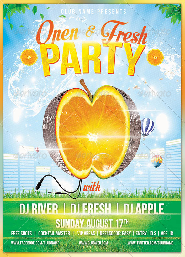 Fresh Party - Events Flyers
