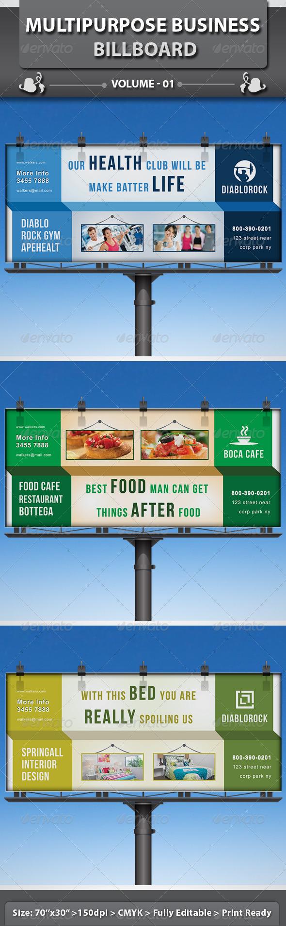 GraphicRiver Multipurpose Business Billboard v1 4978124