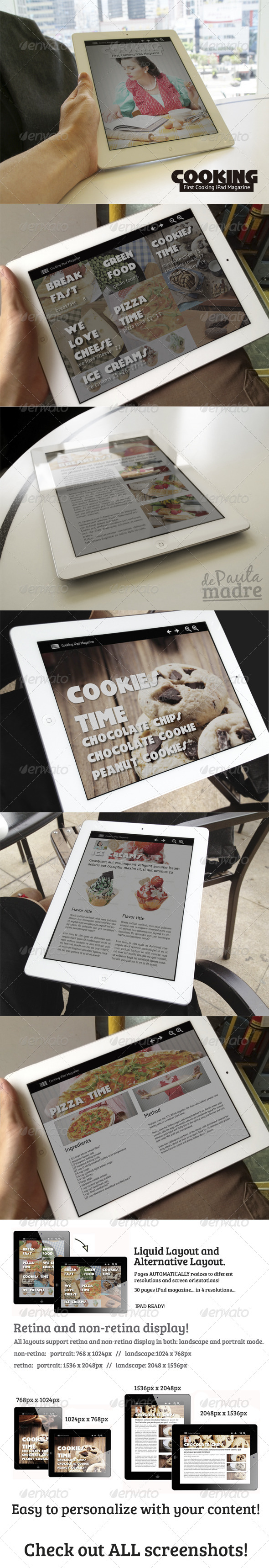 GraphicRiver Cooking iPad Magazine in 4 resolutions 4734170