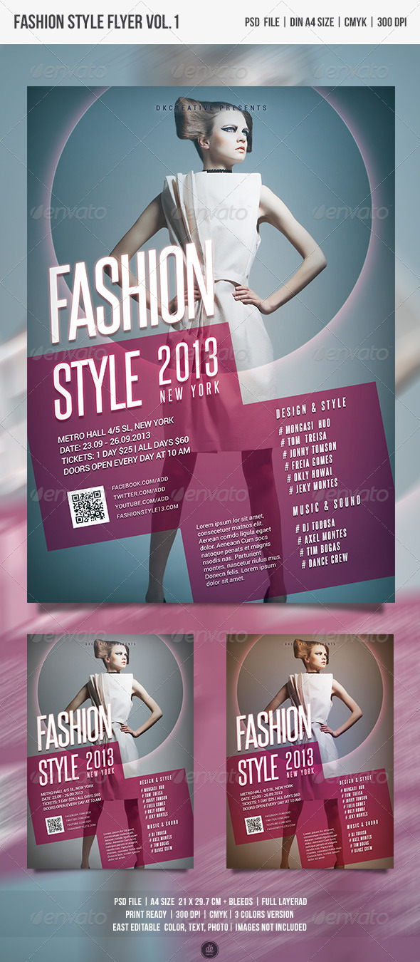 Fashion Style Flyer / Poster Vol.1 - Events Flyers