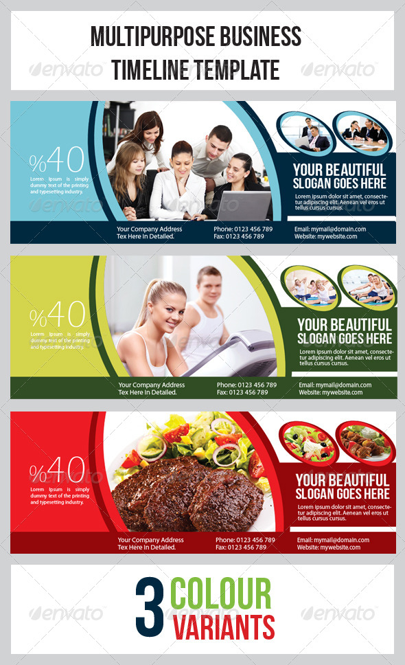 GraphicRiver Multipurpose Banner Timeline Template 4978290