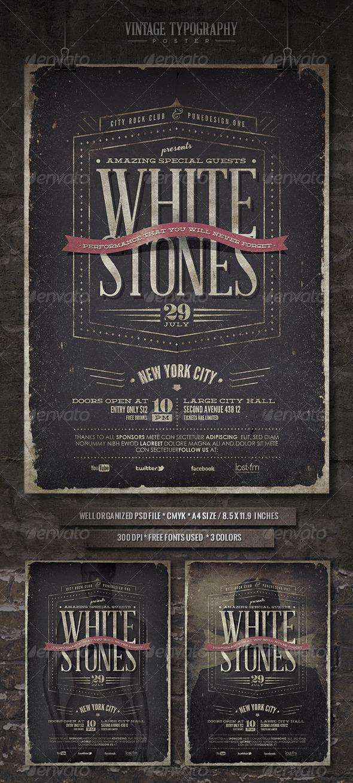 GraphicRiver Vintage Typography Poster V 4978338