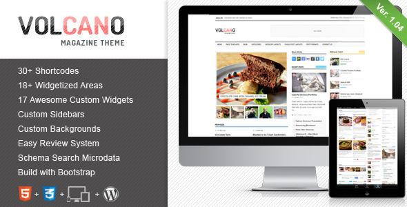 Volcano - Responsive WordPress Magazine  Blog