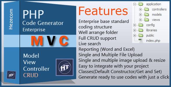CodeCanyon PHP MVC Code Generator Enterprise 4974338