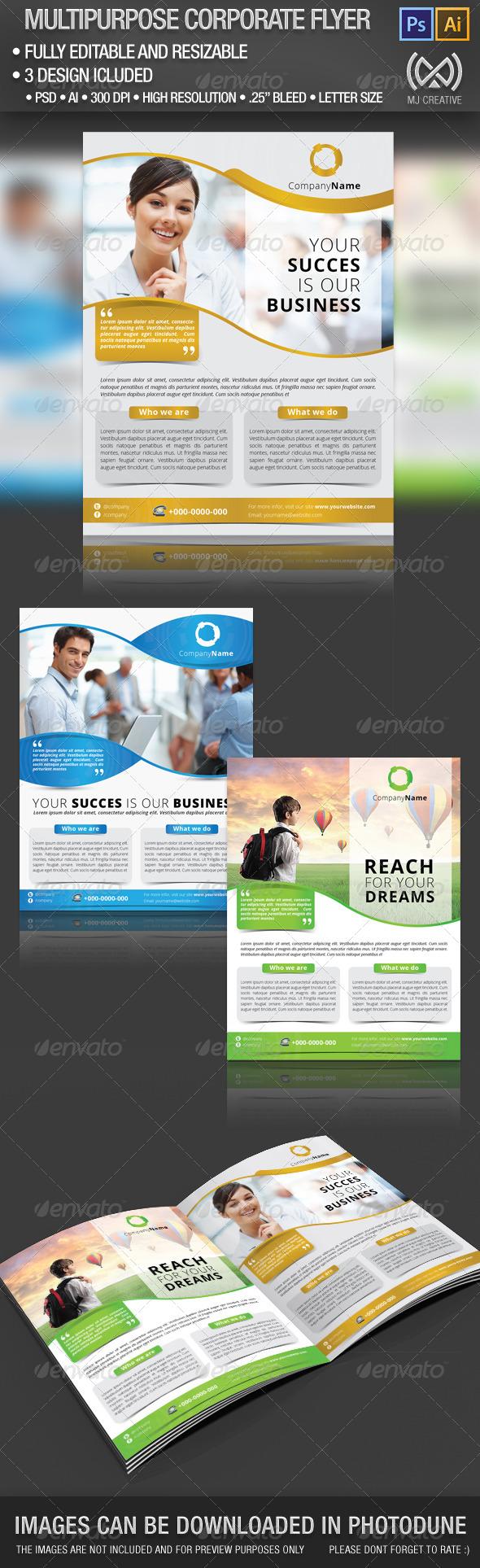 GraphicRiver Multipurpose Corporate Flyer Poster 4731306