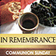 """In Remembrance"" Church/Communion Service - GraphicRiver Item for Sale"