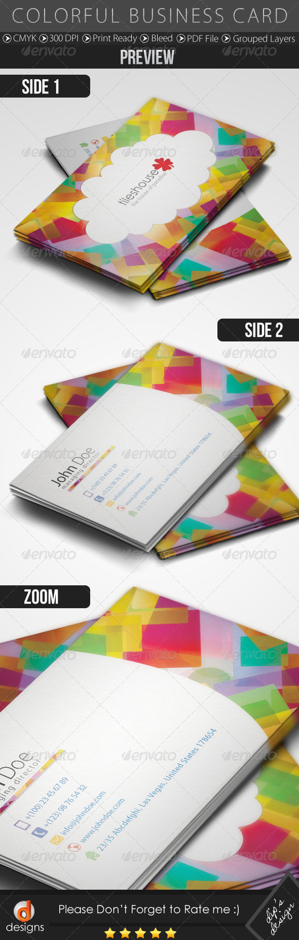GraphicRiver Colorful Business Card 4979344