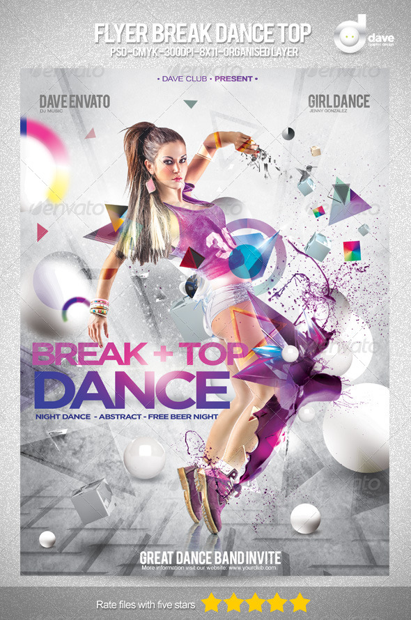 GraphicRiver Flyer Break Dance Top Party 4979509