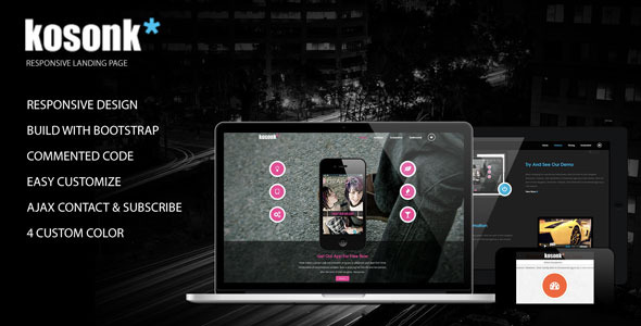 Kosonk - Responsive Landing Page