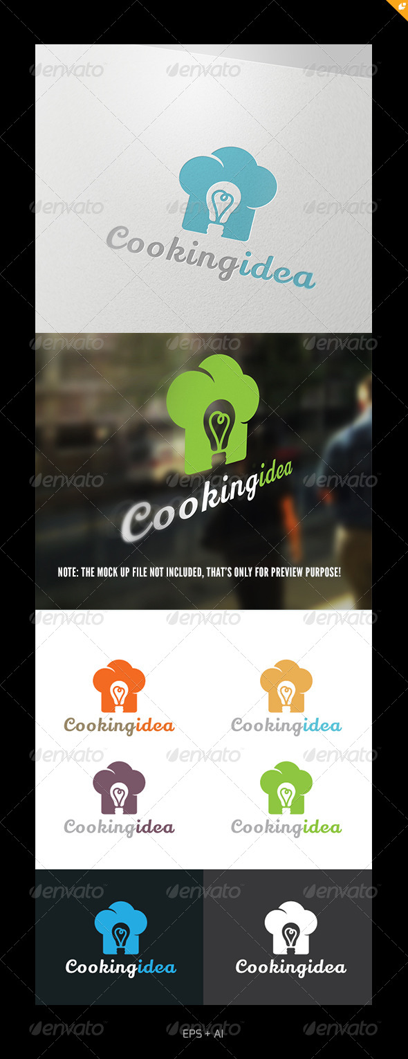 GraphicRiver Cooking Idea Logo 4980109