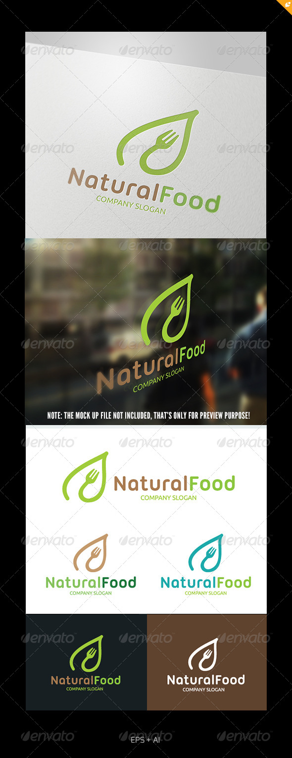 GraphicRiver Natural Food Logo 4980440