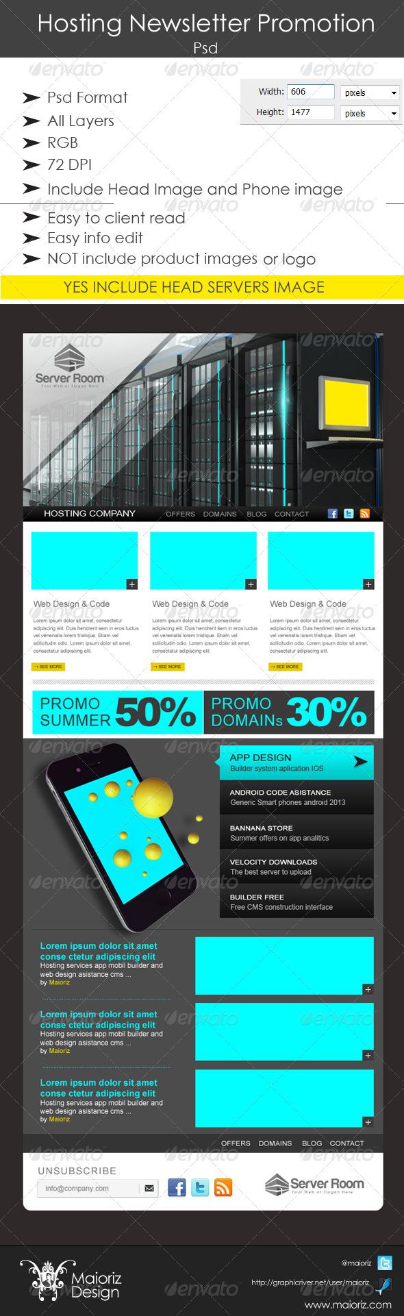 GraphicRiver Hosting Newsletter Promotion 4915591
