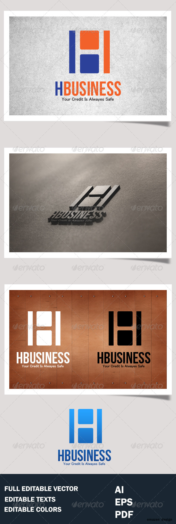 GraphicRiver H Business H letter Logo Template 4980668