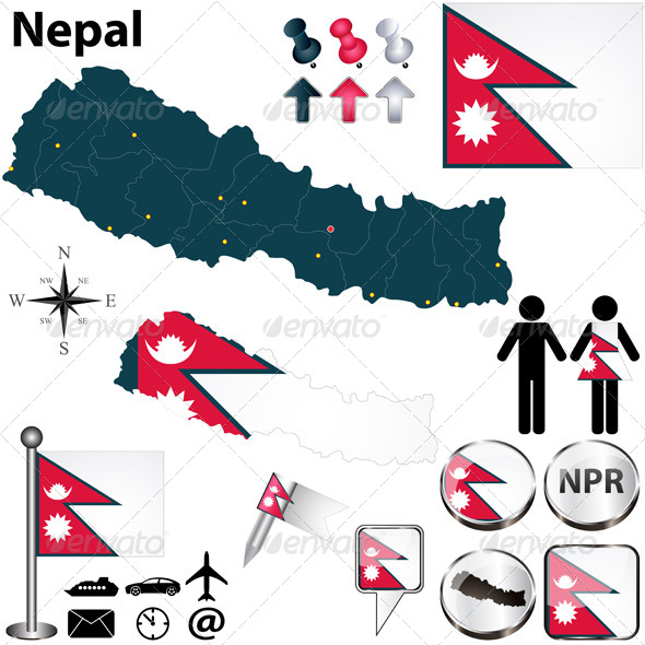 GraphicRiver Map of Nepal 4981031