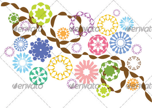 Flower Vectors Pack 2