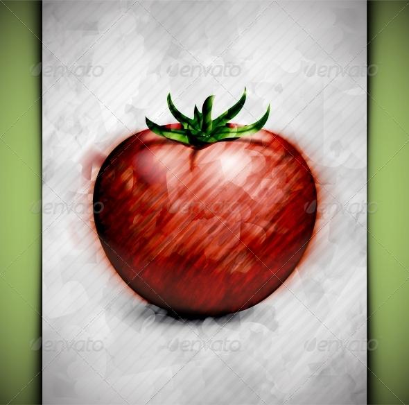 GraphicRiver Tomato Watercolor 4981351