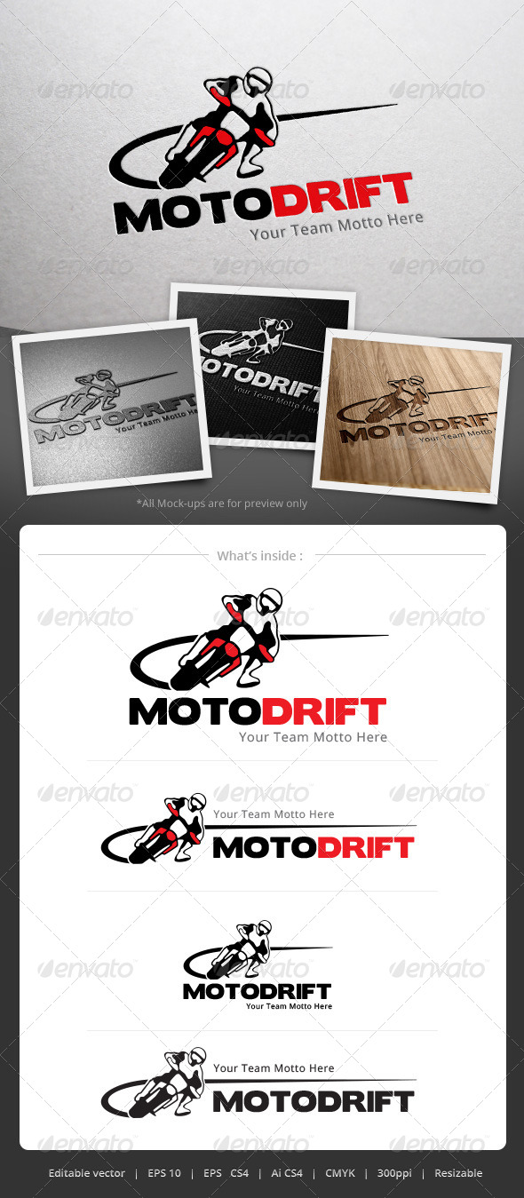 GraphicRiver Moto Drift Logo 4981749