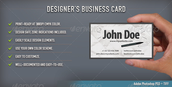 GraphicRiver Designer s Business Card 4914154