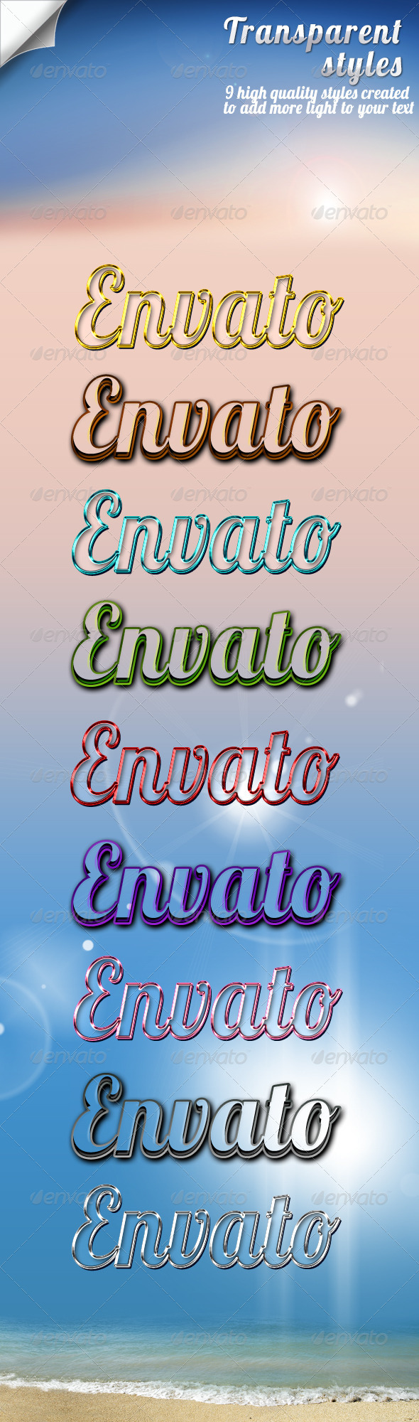 Transparent Styles - Text Effects Styles