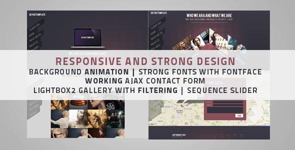 Skygo One Page HTML Template - Portfolio Creative