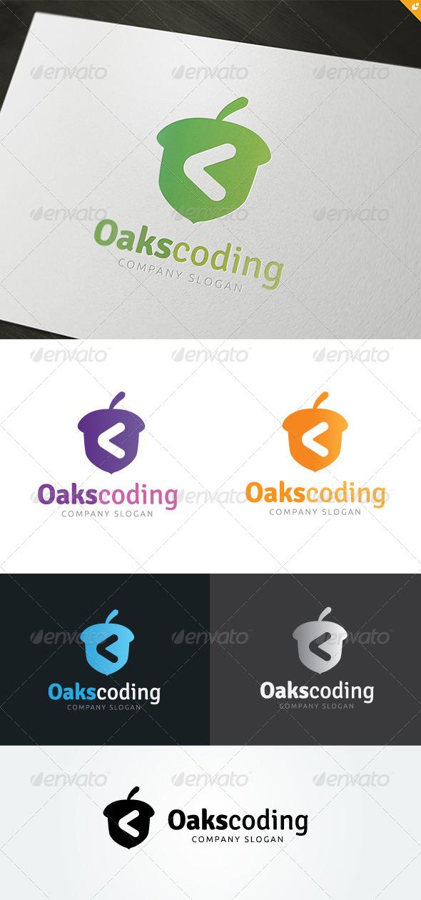 GraphicRiver Oaks Coding Logo 4982617