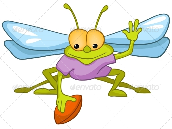 GraphicRiver Cartoon Character Fly 4982897