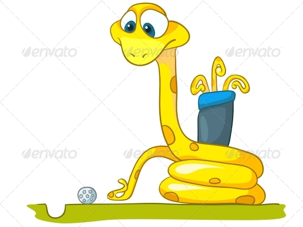 GraphicRiver Cartoon Character Snake 4982935