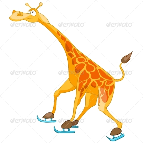 GraphicRiver Cartoon Character Giraffe 4982981