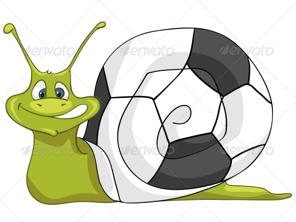 GraphicRiver Cartoon Character Snail 4983016