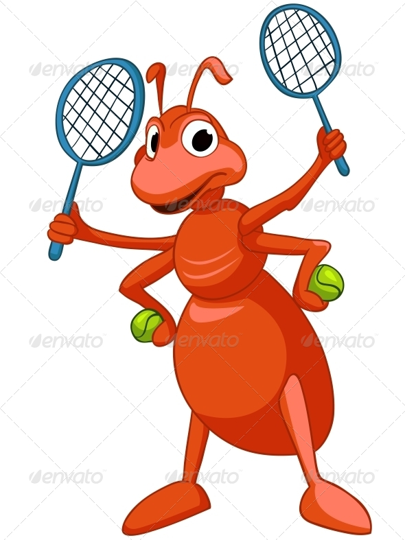 GraphicRiver Cartoon Character Ant 4983037