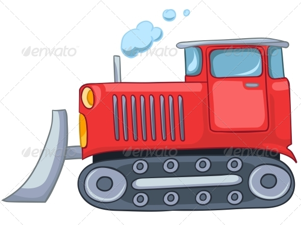 GraphicRiver Cartoon Tractor 4983055