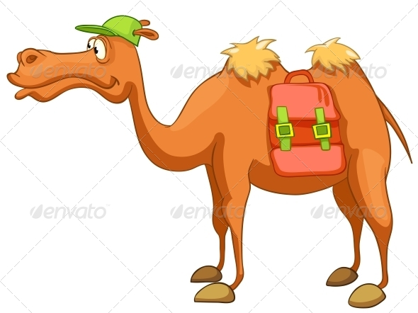 GraphicRiver Cartoon Character Camel 4983084